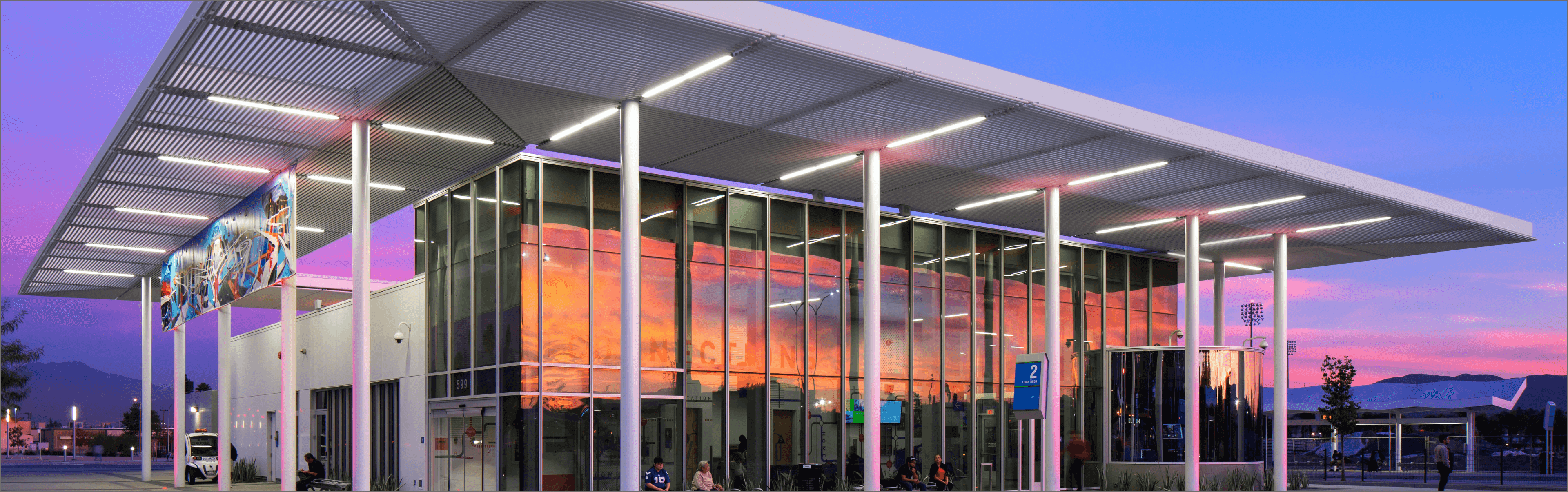 San Bernardino Transit Center at sunset