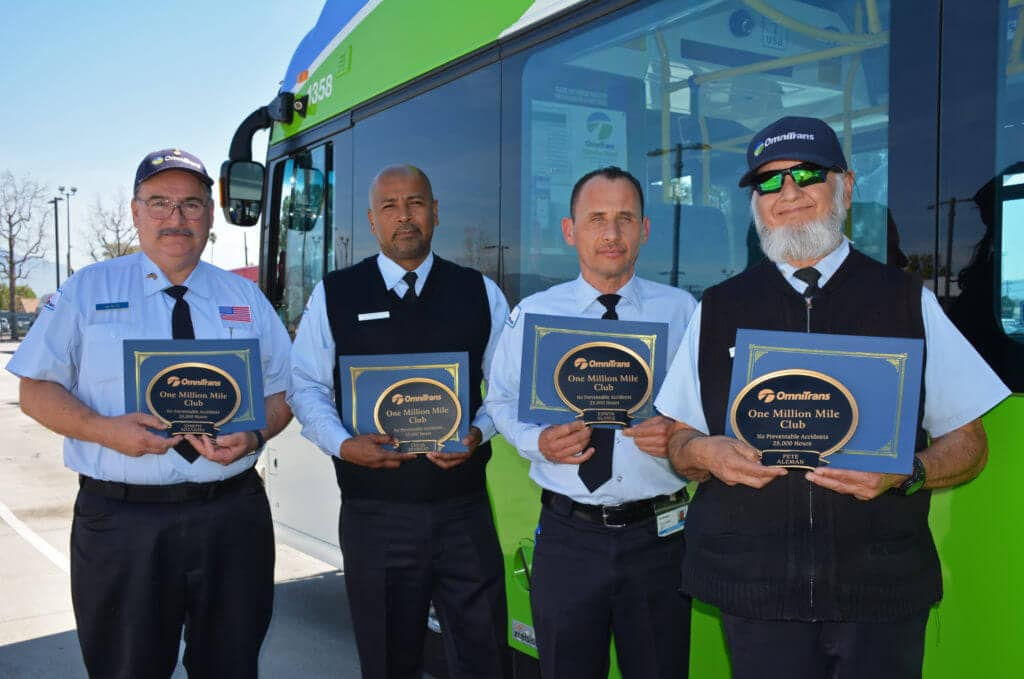 Coach Operators Receive Awards for Safe Driving Record