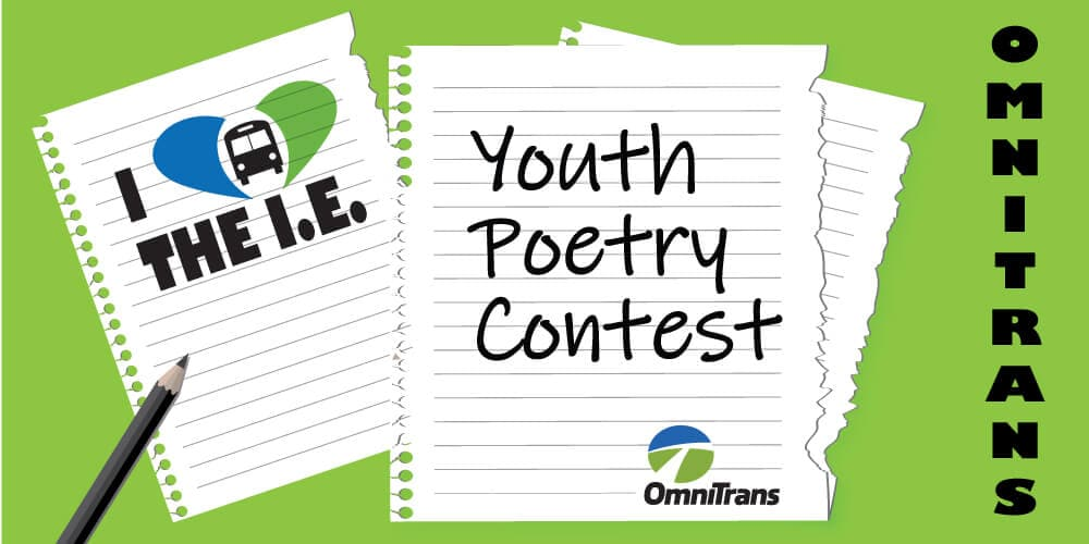 Submit Your Poem Into the Omnitrans Youth Poetry Contest!